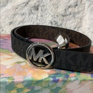Michael Kors belt NWT black mono MK